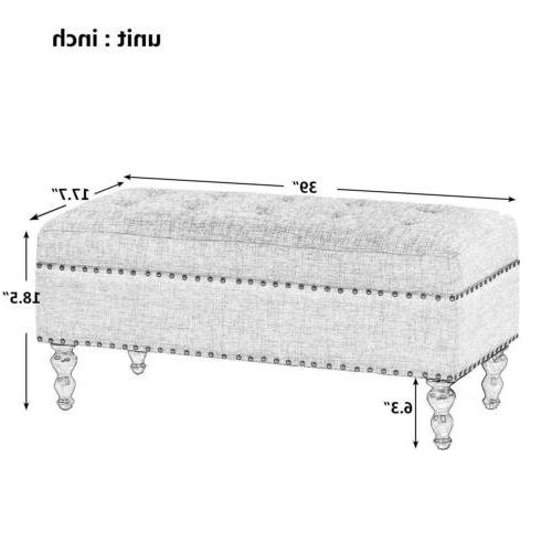 """NEW 39"""" Luxury Large Ottoman Tufted Natural Footrest"""