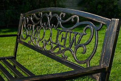NEW Patio Furniture Deck Welcome Love Seat Bronze