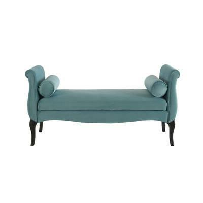 olivia roll arm entryway bench arctic blue