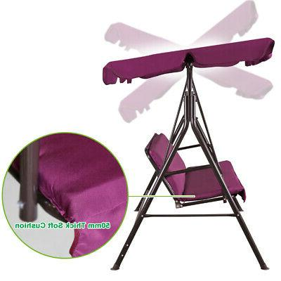 Outdoor Canopy Swing Chair Lounge 3-Person Hammock
