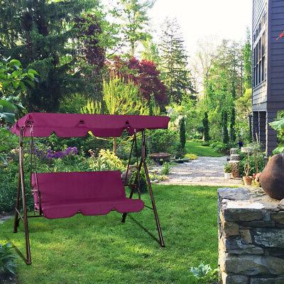 Outdoor Canopy Swing Patio Chair 3-Person Hammock Porch