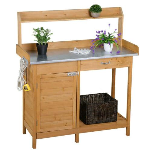 Outdoor Table Planting Cabinet Shelf