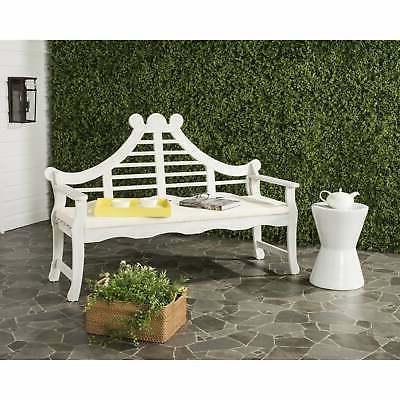 """Safavieh Outdoor Living Azusa Antique White Bench - 26.4"""" x"""