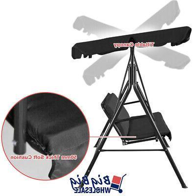 Outdoor Canopy Hammock 3-Person Black