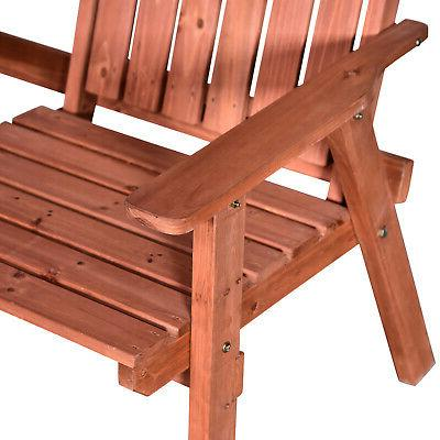 Outsunny Outdoor Patio Wooden Double with Middle