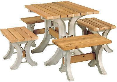 Park Garden Patio Yard Wood Seat Outdoor