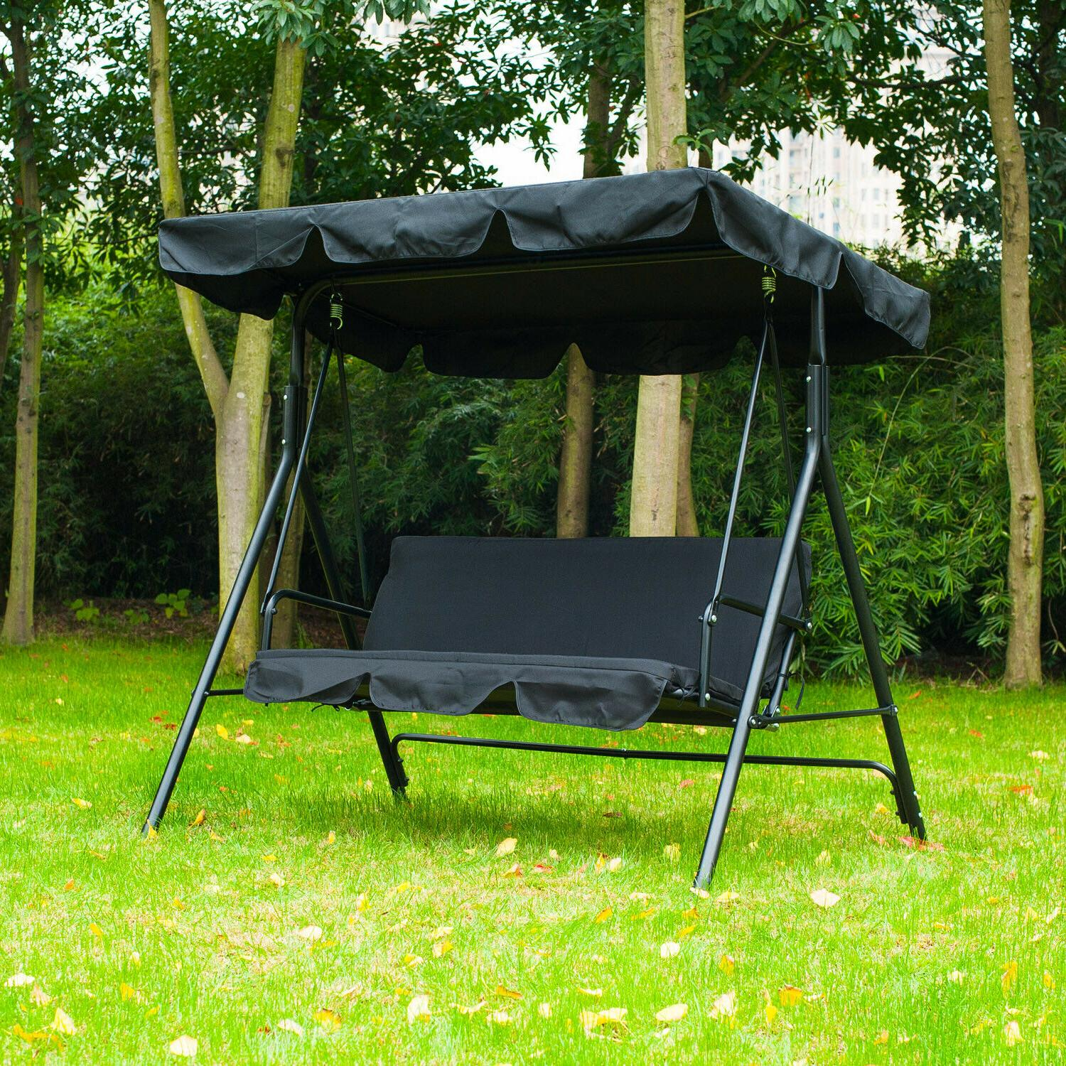 patio swing chair 3 person