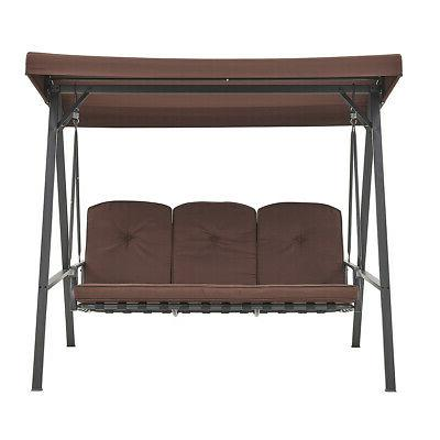Porch Lounge Steel Padded Outdoor