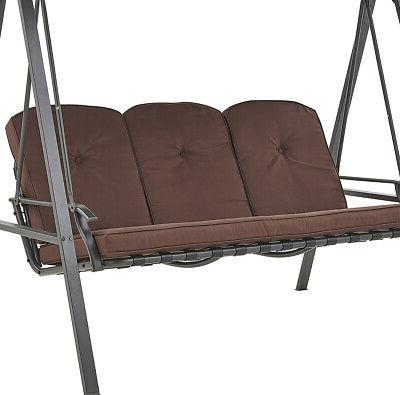 Porch Hammock Lounge Chair 3-seat Padded w/