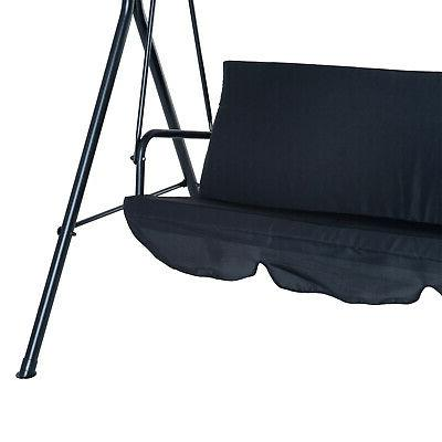 Porch Swing Bench Lounge Steel Padded