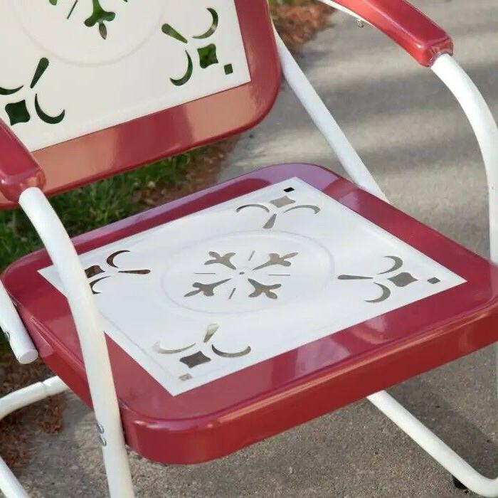 Retro Metal Lawn Chair Porch Patio Garden