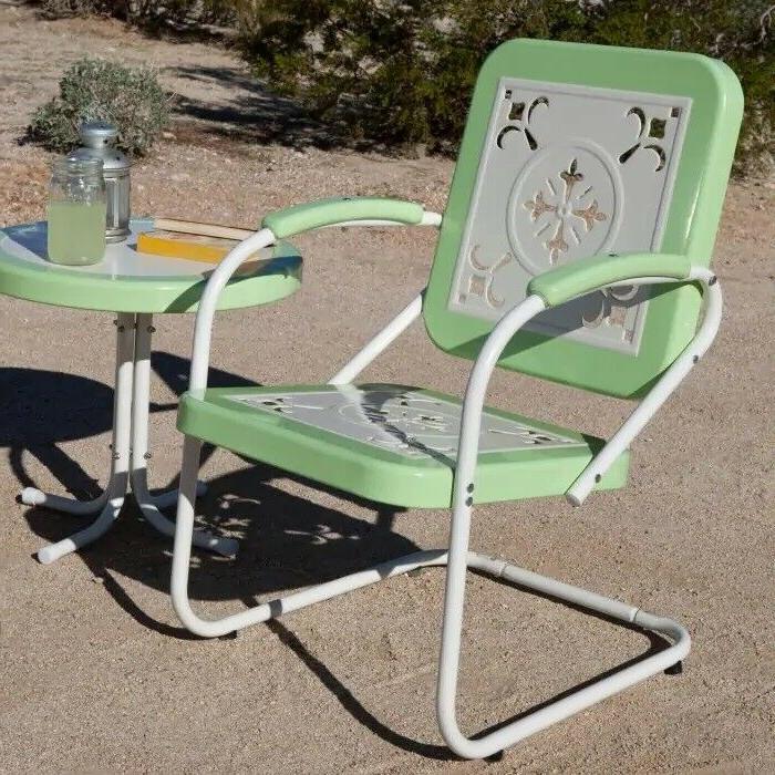Retro Metal Lawn Chair Porch
