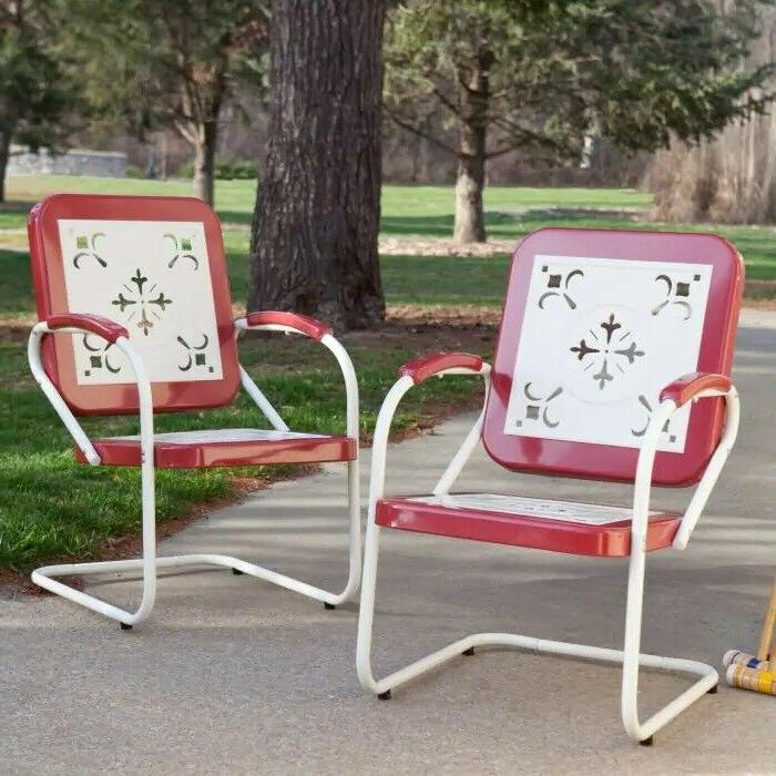 retro metal lawn chair porch armchair outdoor