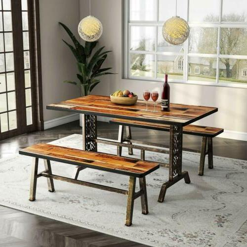 Rustic+Antique 3 Dining Set Kitchen Table