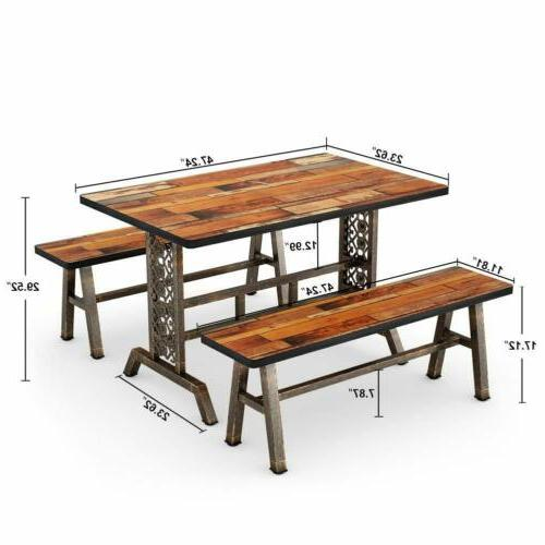 home dining table with two benches 3