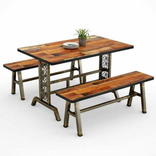 Home Table Two Dining Set for Metal Base US