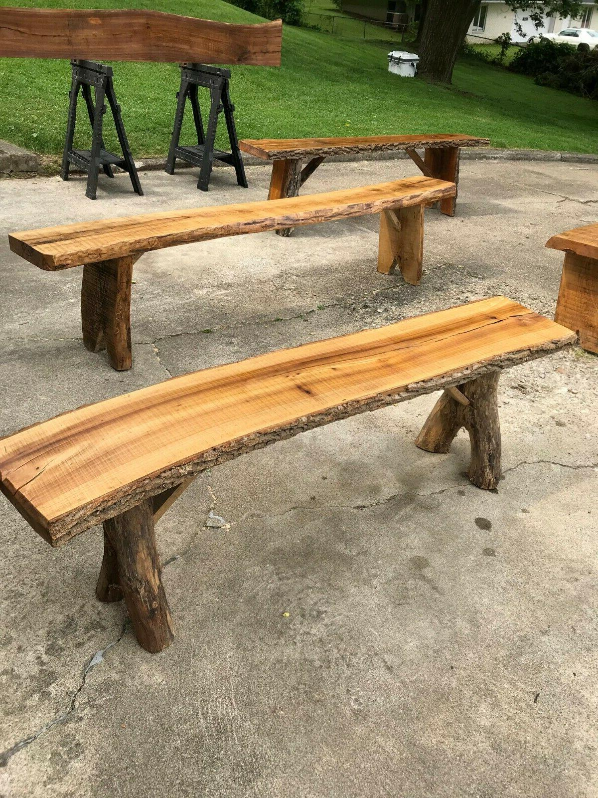 rustic benches for indoor or outdoor use