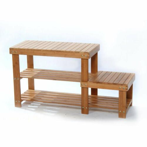 Shoe Storage Benches For Entryway Rack Boot Organizer Bamboo Hallway