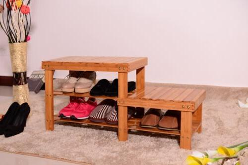 Shoe Storage Entryway Rack Organizer Bamboo Bench