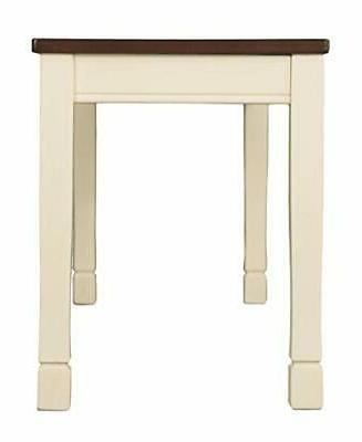 Signature Design by Ashley Whitesburg Dining Bench, Brown/Cottage White