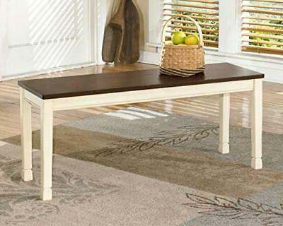 Signature by Whitesburg Dining Room Bench, Brown/Cottage White