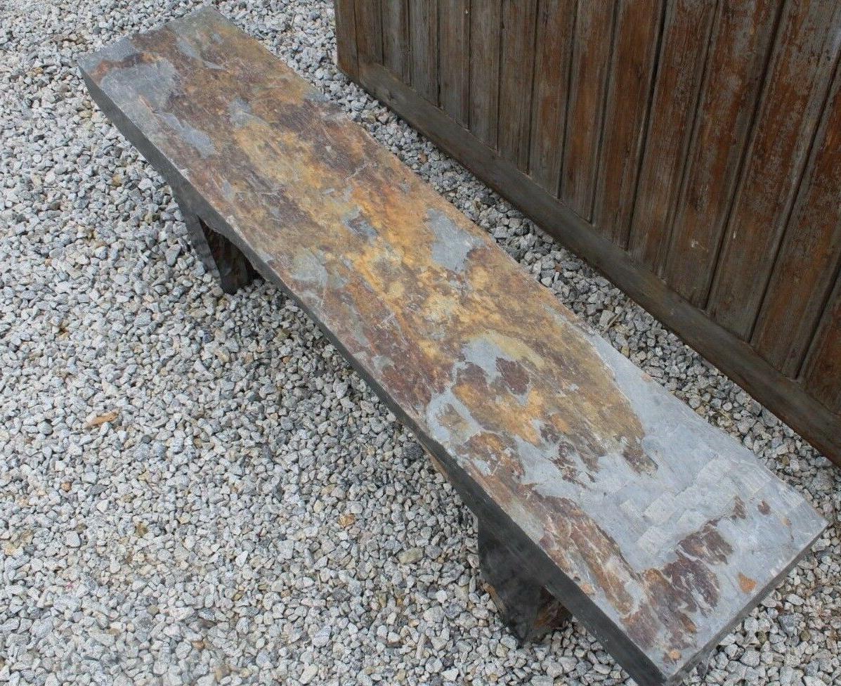 Stone Bench 63''x19''x12'' Outdoor Park