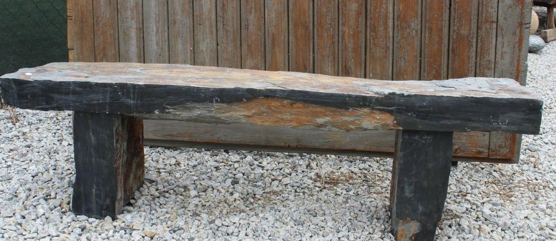 stone bench slate sitting 63 x19 x12
