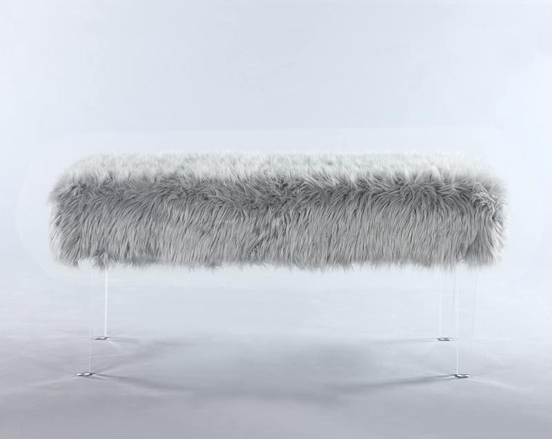 Iconic Contemporary Fur Acrylic Leg