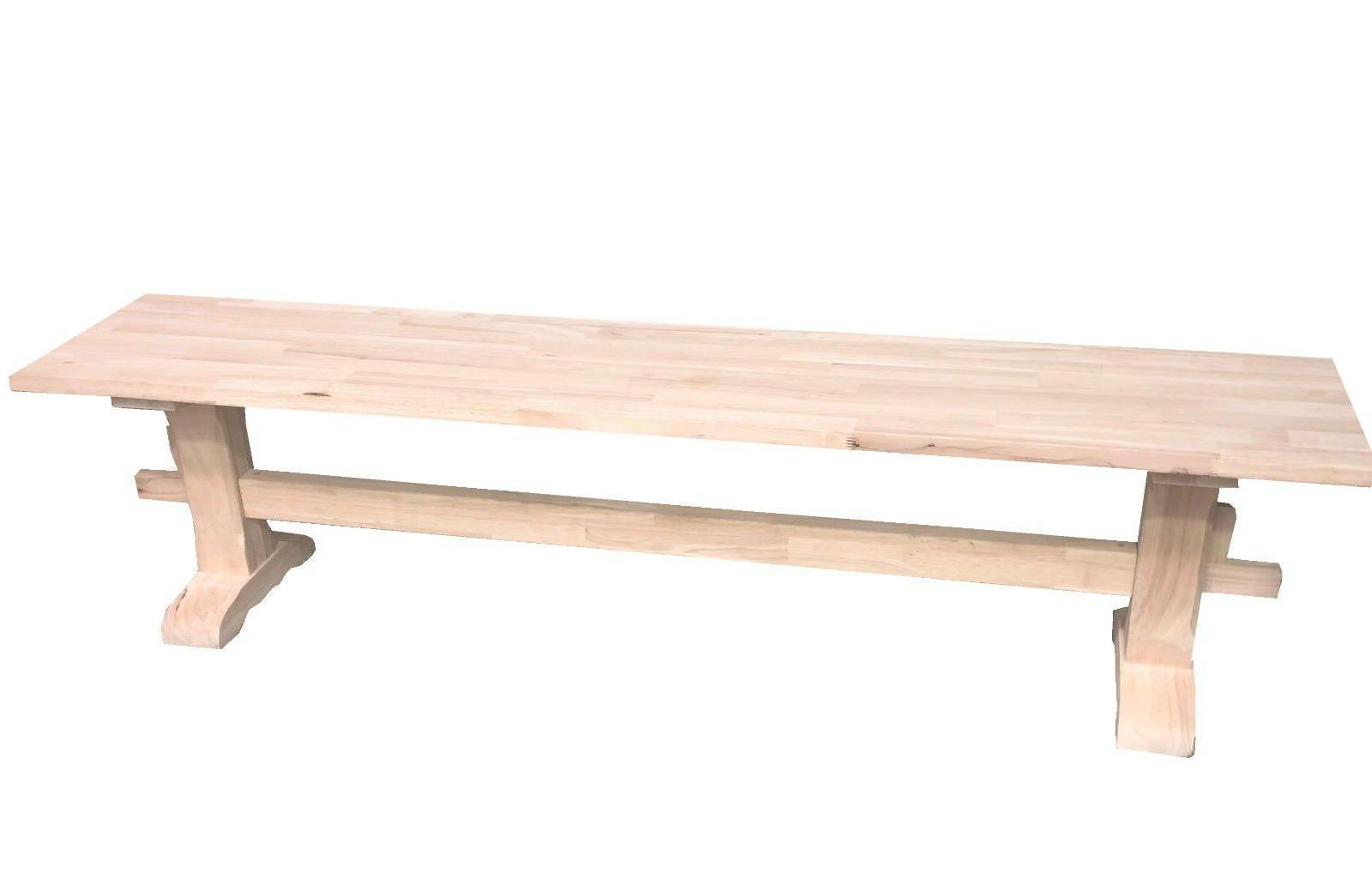 Unfinished Bench/Pedestal Bench