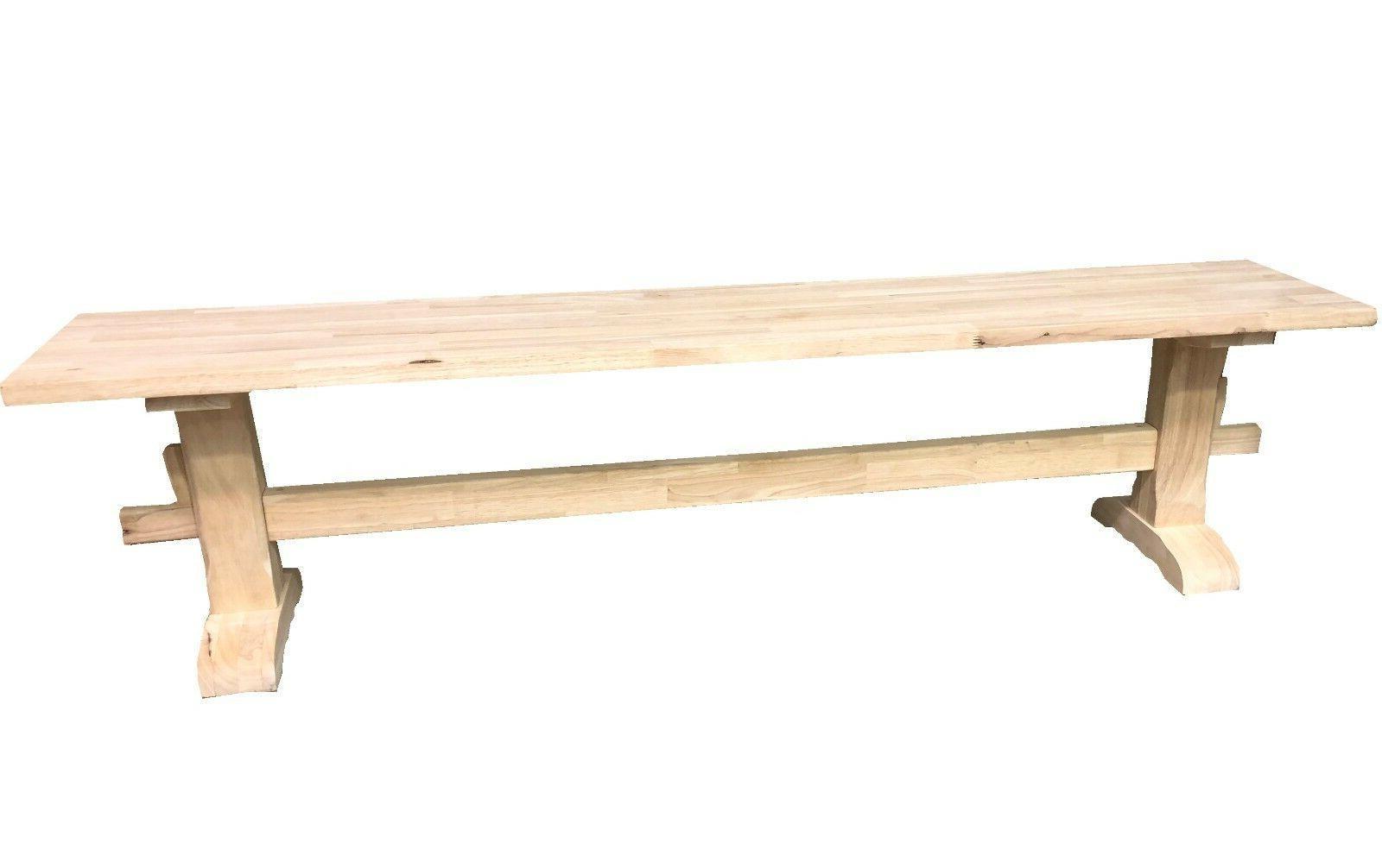 Unfinished Trestle Bench/Pedestal Bench