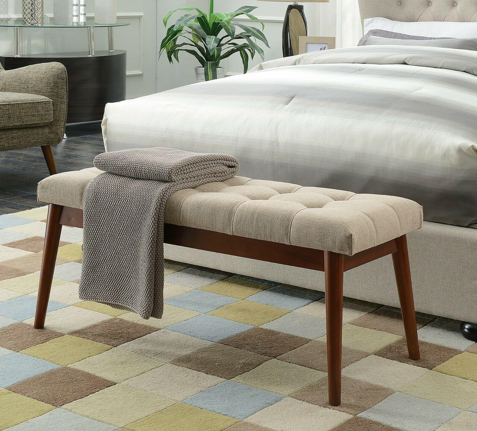 upholstered bedroom bench tufted accent benches
