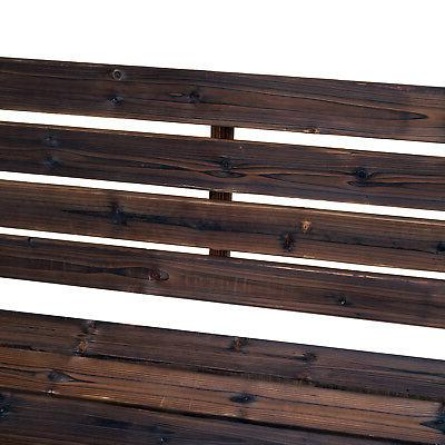 Outsunny Bench Loveseat Rustic Outdoor