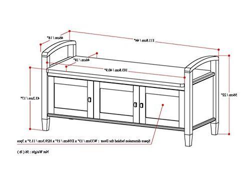 Simpli Warm Shaker Storage Bench in Brown