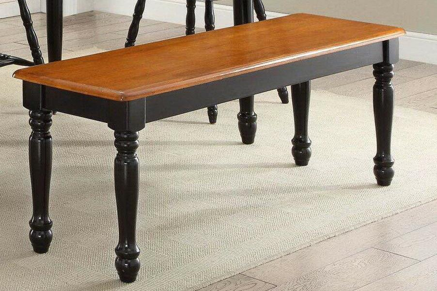 Wood Dinning Table Seat Home Kitchen Black Color Furniture