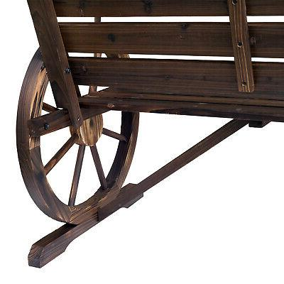 Outsunny Wagon Bench Loveseat Outdoor