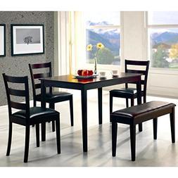 A Line Furniture Ladder Back Design 5-piece Dining Set with