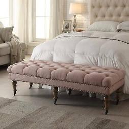 Linon Larissa 62-Inch Bench - Pink Pink