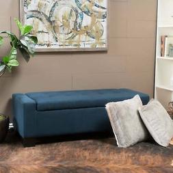 Lawton Fabric Storage Ottoman Bench by Christopher Knight  L