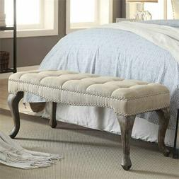 Linen Bench in Natural Finish