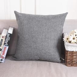 HOME BRILLIANT Linen Large Throw Pillows European Sham Cushi