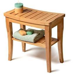 Medical Spa Storage Teak Shower Bench Bamboo Safety Bath Cha