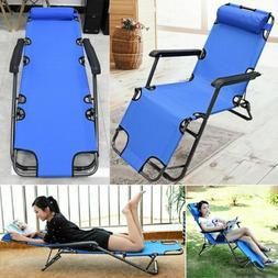 Metal Folding Chaise Lounge Chair Patio Garden Pool Beach La