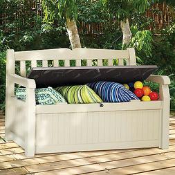 Modern Storage Bench Organizer for Outdoor Indoor Patio Deck