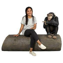 Design Toscano Monkey See Monkey Do Chimpanzee Sculptural Be