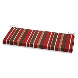Pillow Perfect Monserrat Bench Cushion, Red
