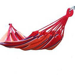 Adeco Naval-Style Cotton Fabric Canvas Hammock Tree Hanging