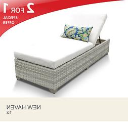 New Haven Chaise Outdoor Wicker Patio Furniture 2 for 1