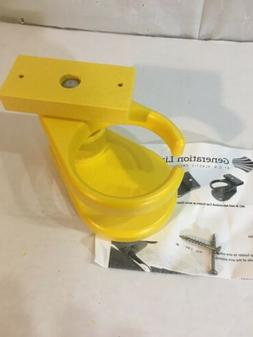 NEW! POLY WOOD PLASTIC Cup Holder for Adirondack Chair YELLO