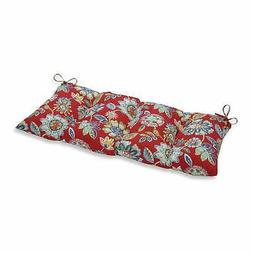 Pillow Perfect Outdoor/ Indoor Daelyn Cherry Swing/Bench Red