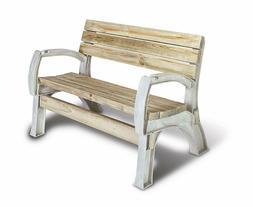 Patio Bench Outdoor Lawn Garden Porch Chair Kit Sand Durable